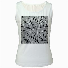 Metal Background With Round Holes Women s White Tank Top