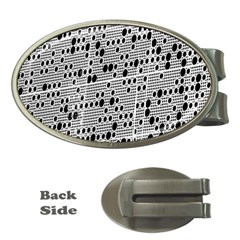 Metal Background With Round Holes Money Clips (oval)