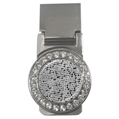 Metal Background With Round Holes Money Clips (CZ)