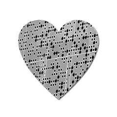 Metal Background With Round Holes Heart Magnet