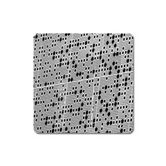 Metal Background With Round Holes Square Magnet