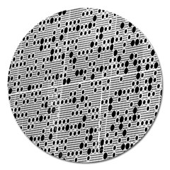 Metal Background With Round Holes Magnet 5  (Round)