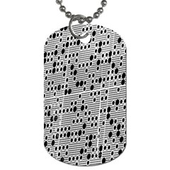 Metal Background With Round Holes Dog Tag (one Side)