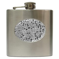 Metal Background With Round Holes Hip Flask (6 oz)