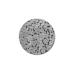 Metal Background With Round Holes Golf Ball Marker (10 pack)
