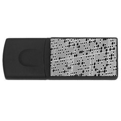 Metal Background With Round Holes USB Flash Drive Rectangular (1 GB)