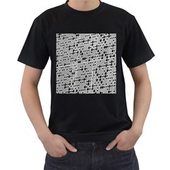 Metal Background With Round Holes Men s T-Shirt (Black) (Two Sided)