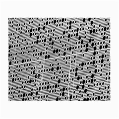 Metal Background With Round Holes Small Glasses Cloth