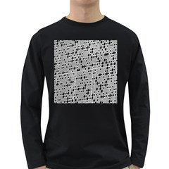 Metal Background With Round Holes Long Sleeve Dark T Shirts