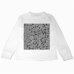 Metal Background With Round Holes Kids Long Sleeve T-Shirts
