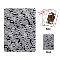 Metal Background With Round Holes Playing Card