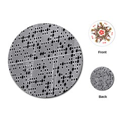 Metal Background With Round Holes Playing Cards (round)