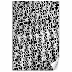 Metal Background With Round Holes Canvas 20  x 30