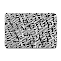 Metal Background With Round Holes Small Doormat