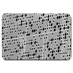 Metal Background With Round Holes Large Doormat