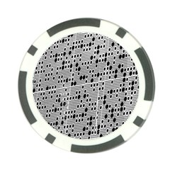 Metal Background With Round Holes Poker Chip Card Guard