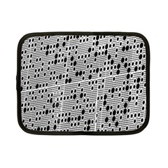 Metal Background With Round Holes Netbook Case (Small)