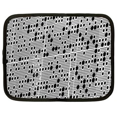 Metal Background With Round Holes Netbook Case (Large)