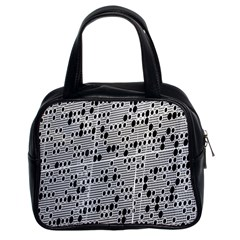 Metal Background With Round Holes Classic Handbags (2 Sides)