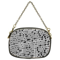 Metal Background With Round Holes Chain Purses (One Side)