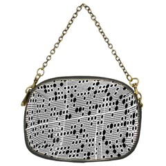 Metal Background With Round Holes Chain Purses (Two Sides)