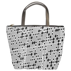 Metal Background With Round Holes Bucket Bags