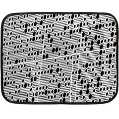 Metal Background With Round Holes Fleece Blanket (Mini)
