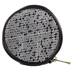 Metal Background With Round Holes Mini Makeup Bags