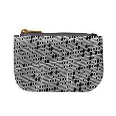 Metal Background With Round Holes Mini Coin Purses