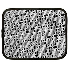 Metal Background With Round Holes Netbook Case (xl)