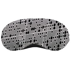Metal Background With Round Holes Sleeping Masks