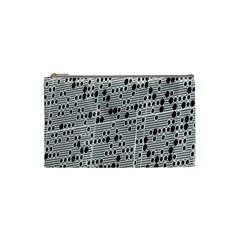 Metal Background With Round Holes Cosmetic Bag (Small)