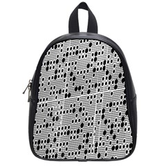 Metal Background With Round Holes School Bags (Small)
