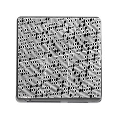 Metal Background With Round Holes Memory Card Reader (Square)