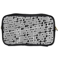 Metal Background With Round Holes Toiletries Bags 2-Side