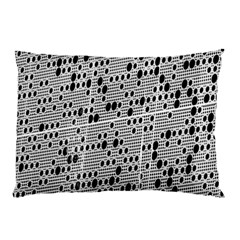 Metal Background With Round Holes Pillow Case (two Sides)