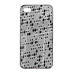 Metal Background With Round Holes Apple Iphone 4/4s Seamless Case (black)