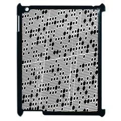 Metal Background With Round Holes Apple Ipad 2 Case (black)