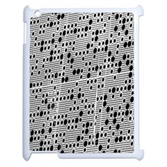 Metal Background With Round Holes Apple iPad 2 Case (White)