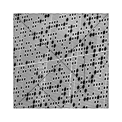 Metal Background With Round Holes Acrylic Tangram Puzzle (6  X 6 )