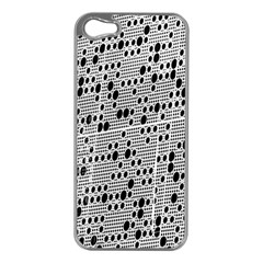 Metal Background With Round Holes Apple Iphone 5 Case (silver)