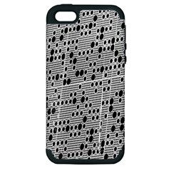 Metal Background With Round Holes Apple iPhone 5 Hardshell Case (PC+Silicone)