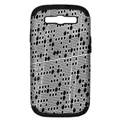 Metal Background With Round Holes Samsung Galaxy S Iii Hardshell Case (pc+silicone)