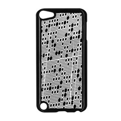 Metal Background With Round Holes Apple iPod Touch 5 Case (Black)