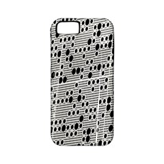 Metal Background With Round Holes Apple Iphone 5 Classic Hardshell Case (pc+silicone)