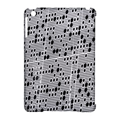 Metal Background With Round Holes Apple Ipad Mini Hardshell Case (compatible With Smart Cover)