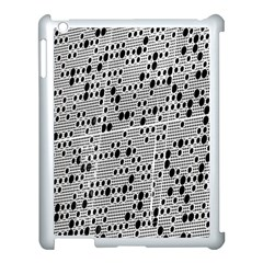 Metal Background With Round Holes Apple Ipad 3/4 Case (white)