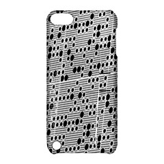 Metal Background With Round Holes Apple iPod Touch 5 Hardshell Case with Stand