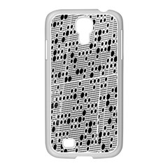 Metal Background With Round Holes Samsung GALAXY S4 I9500/ I9505 Case (White)