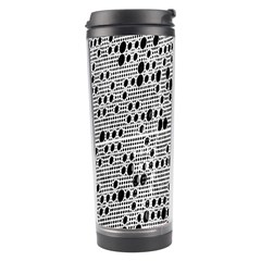 Metal Background With Round Holes Travel Tumbler